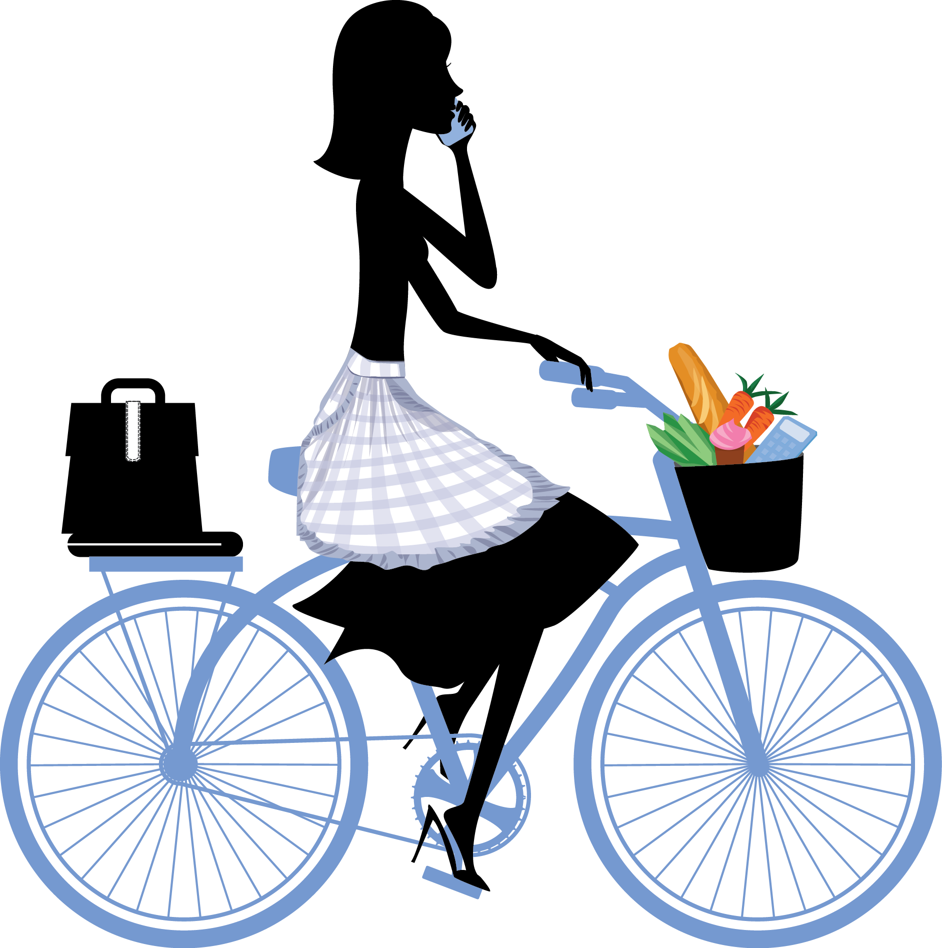 Page footer bike graphic